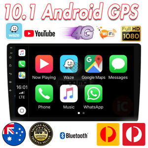 10.1 Double DIN Android Auto Car Stereo GPS Head Unit FM/AM Player Car Play 4G