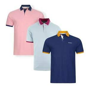 New Hackett London HM562696 Double Tip Contrast Collar Polo Shirt £85.00