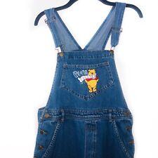 Disney Winnie The Pooh Denim Jeans Women's Overalls Size Medium 100% Cotton