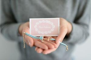 Für die Schwester - Karte + Lederarmband mit Anker in Gold und Geschenkumschlag