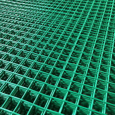 GREEN PVC COATED MESH WIRE FENCING PANEL LARGE GARDEN OUTDOOR 1.8M x 0.9M x 25mm