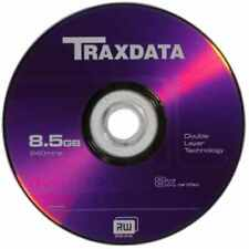 5 Traxdata Branded Dual Layer DVD+R DL 8x double layer blank Discs 8.5GB Ritek