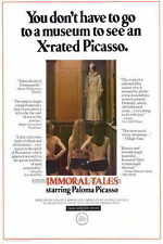 IMMORAL TALES Movie POSTER 27x40