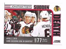 2010-11 Score Sudden Death Jonathan Toews