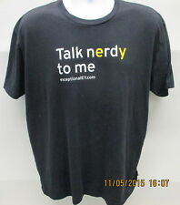 Talk nErdY to me T-Shirt, Black, S/S, XL, ExceptionalEY.com, #smartEYpants