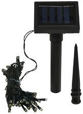 Luxform Lighting Solar LED Garden String Lights - 50 LED's IP44 Warm White