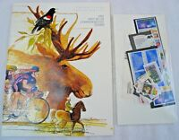 Sealed 1987 Mint Set Commemorative USPS Yearbook Album Softcover with Stamps