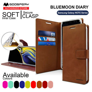 For Samsung Galaxy Note 9 8 5 4 MERCURY Wallet Leather Case BLUEMOON DIARY Cover