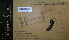 The Pampered Chef Cookie Press #1525-16 Disks Instruction Book and Recipes