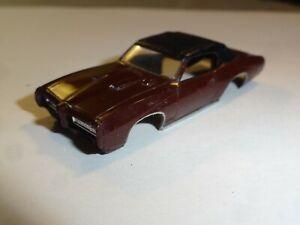 Vintage Aurora T-Jet Rare Brown Pontiac GTO  Nice! - ho slot car body