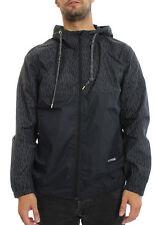 Men Converse Reflective Packable Windbreaker SIZE M Black 10002798 001