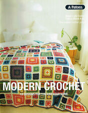 PATONS 1316 ~ MODERN CROCHET ~ 12 x GREAT DESIGNS FOR YOU & YOUR HOME