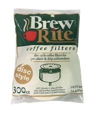 """Round Coffee Filters for Percolators 3 to 3.5"""" Paper - 300ct - NEW"""
