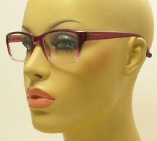 Rectangular Style Glasses Purple Gradient Frame Fashion Clear Lens Eyeglasses