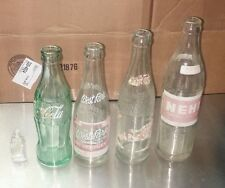 Vintage Lot of soda pop bottles Pepsi Cola Coca-Cola coke nehi west park burnett