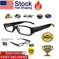 1080P HD Camera Glasses Spy Hidden Eyeglass DVR Video Eyewear Recorder NVR US