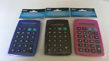 JOT BLACK POCKET CALCULATOR (With Battery ) EIGHT(8) DIGIT DISPLAY-lot of three