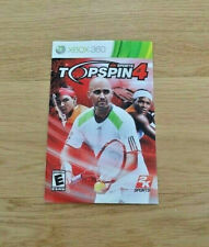Top Spin 4 Xbox 360 Manual Only