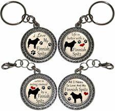 Finnish Spitz Dog Key Ring Key Chain Purse Charm Zipper Pull Handmade #2
