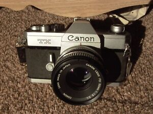 Canon TX #188446 Tested working Meter Good, FD 50/1.8 S.C. #84828 Nice