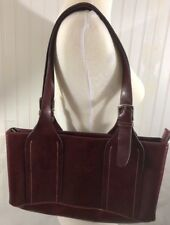 Vintage Gucci Leather Bag  Burgundy In Color