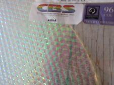 """Dichroic Glass:CBS 96 COE - Aqua on Thin Radium Textured Clear- 3""""Sq"""