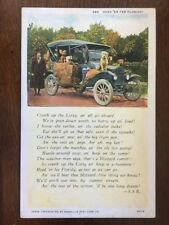 Head'er Fer Floridy! Tin Lizzy Poem Florida Dogs postcard d9