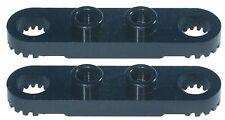Brique lego manquant 4263 Noir x 2 Technic plaque 1 x 4 avec des trous