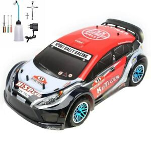 RACING RC CAR 1/10 SCALE 4WD ON ROAD NITRO POWERED SPORT RALLY 18CXP ENGINE CAR