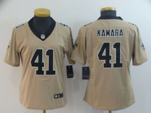 ALVIN KAMARA NEW ORLEANS SAINTS NFL GOLD INVERTED MEN XL JERSEY NWT. SEWN ON