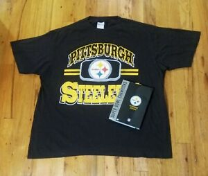 vintage 90s Pittsburgh Steelers t shirt and Super Bowl DVD factory sealed