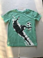 Jumping Beans Boys Soccer T-Shirt Active Size 4 Graphic Nwt Teal green