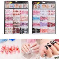 144pcs Mixed Set False Nail Tips Artificial Fake Nails Art Acrylic Manicure Gel