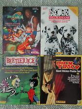 SPACEJAM- BEETLEJUICE - 101 DALMATIONS - DICK TRACEY (4) STICKER BOOKS ! LQQK !!