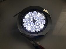 """4"""" Inch Round White LED Chrome Housing Trailer Truck Tractor 4 Inches Light Lamp"""
