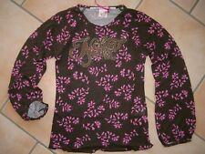 (209) Nolita Pocket Girls Blumen Langarm Shirt mit Logo Schriftzug Besatz gr.92