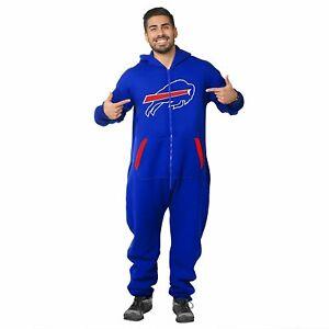 Forever Collectibles NFL Unisex Buffalo Bills Logo Jumpsuit, Blue