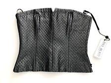 Bill Blass Sport Black Silver Thread Metallic Bustier Top Corset  Sz 8/10