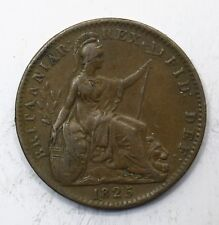 1825 UK One 1 Farthing - George IV 1st issue - aEF Lot 79
