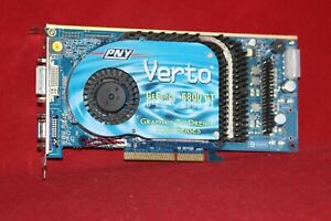 PNY Verto GeForce 6800GT 256MB DDR3, VGA DVI TV, AGP Graphics Card (VCG6800GAPB)