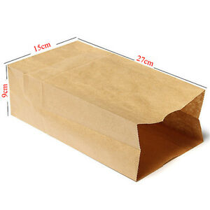 Food-Grade Kraft Paper Bags Gift Bags Craft Packing for Food Snace and Bread