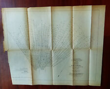 1881 Survey Diagram Gulf of Mexico South Pass Mississippi River