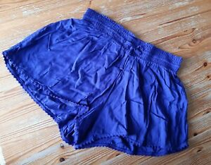 💙 Blue pyjama shorts 💙 Size 12 cool light material Bnwot with pretty trim