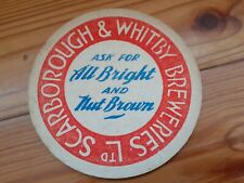 More details for pre war scarborough and whitby brewery beer mat.  1930s.