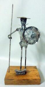 Brutal Mid Century Modern Don Quixote Sculpture