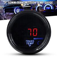 "2"" 52mm Electronic Transmission Trans Temp Gauge Kit Digital LED w 1/8NPT Sensor"