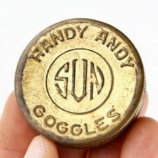 Vintage 1900's Handy Andy SUN Goggles Sun Glasses Tin (Case Only) Old Trinket