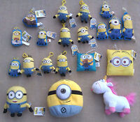 MINIONS from DESPICABLE ME 2 - SELECTION OF PLUSH TOYS ETC.