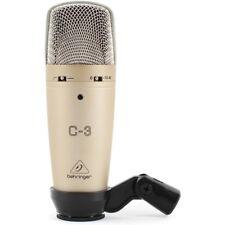 BEHRINGER C-3 microfono a condensatore a doppia membrana x studio canto live NEW