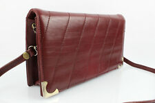 Vintage Pouch Bag Wine Leather Very Good Condition
